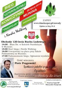 Bieg Czterolistnej Koniczynki Plakat